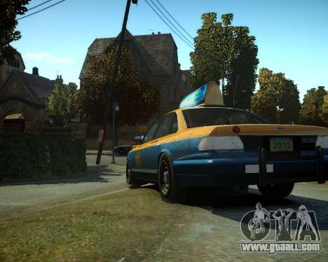 GTA V Taxi for GTA 4 back left view