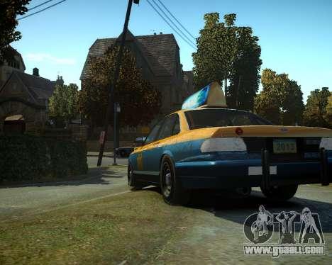 GTA V Taxi for GTA 4 back left view