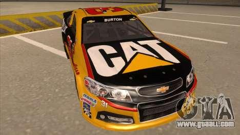 Chevrolet SS NASCAR No. 31 Caterpillar for GTA San Andreas left view