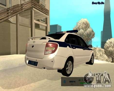 Lada Granta 2190 Police v 2.0 for GTA San Andreas right view