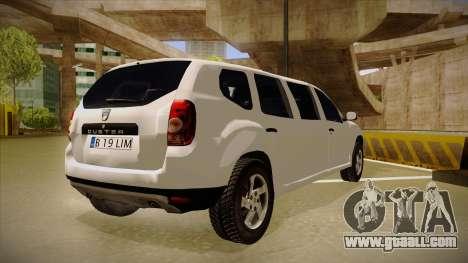 Dacia Duster Limuzina for GTA San Andreas right view