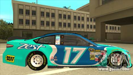 Ford Fusion NASCAR No. 17 Zest Nationwide for GTA San Andreas back left view