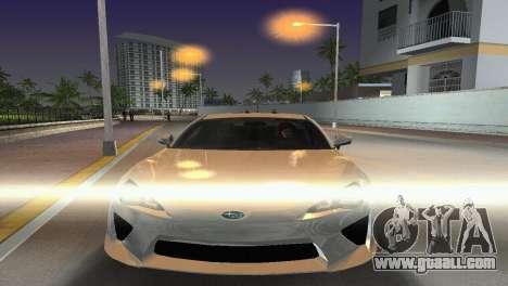 Subaru BRZ Type 2 for GTA Vice City back view