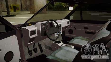 Volkswagen Gol for GTA San Andreas back view