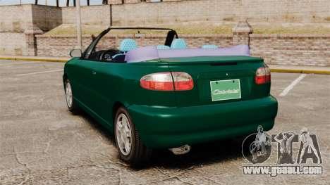 Daewoo Lanos 1997 Cabriolet Concept v2 for GTA 4 back left view