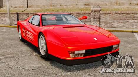 Ferrari Testarossa 1986 for GTA 4