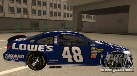 Chevrolet SS NASCAR No. 48 Lowes blue for GTA San Andreas back left view