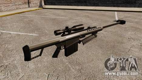 The Barrett M82 sniper rifle v1 for GTA 4 second screenshot