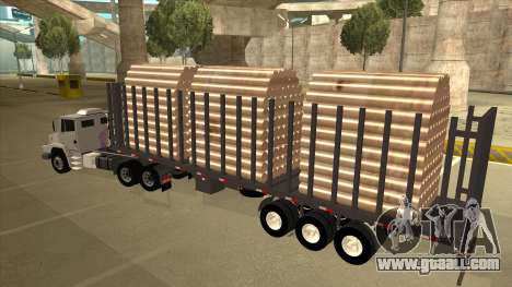 Semi-trailer for Mercedes-Benz LS 2638 for GTA San Andreas right view