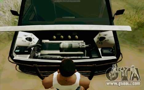 Gang Burrito for GTA San Andreas back view