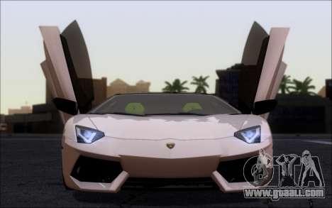 Lamborghini Aventador LP760-2 EU Plate for GTA San Andreas back left view