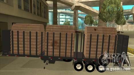 Semi-trailer for Mercedes-Benz LS 2638 for GTA San Andreas