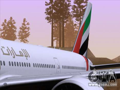 Boeing 777-21HLR Emirates for GTA San Andreas interior