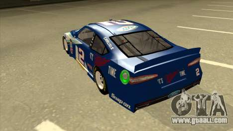 Ford Fusion NASCAR No. 2 Miller Lite for GTA San Andreas back view