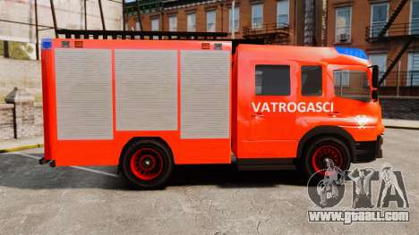 Mercedes-Benz Atego Koprivnica Fire Dept. [ELS] for GTA 4 left view