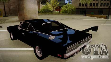 Dodge Charger for GTA San Andreas back view