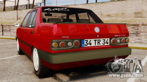 Tofas Dogan SL-X for GTA 4 back left view
