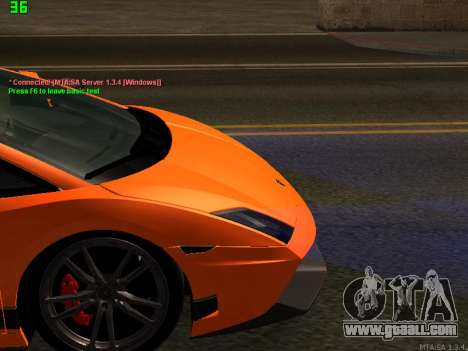 Lamborghini Gallardo LP560-4 SL UGR Altecho for GTA San Andreas inner view