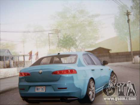 Alfa Romeo 159 Sedan for GTA San Andreas right view