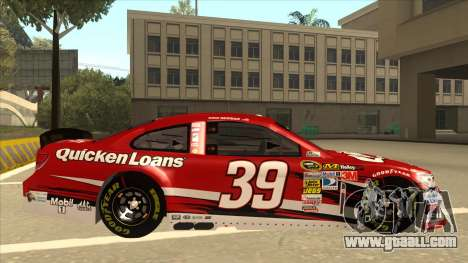 Chevrolet SS NASCAR No. 39 Quicken Loans for GTA San Andreas back left view