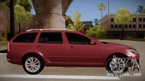 Skoda Octavia RS 2010 Combi for GTA San Andreas back left view