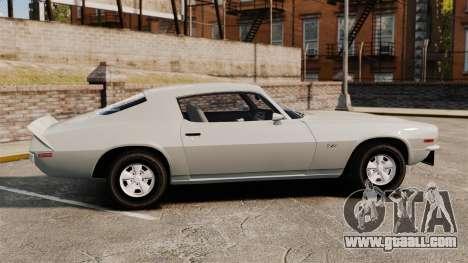 Chevrolet Camaro Z28 1970 for GTA 4 left view