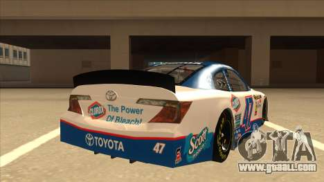 Toyota Camry NASCAR No. 47 Clorox for GTA San Andreas right view