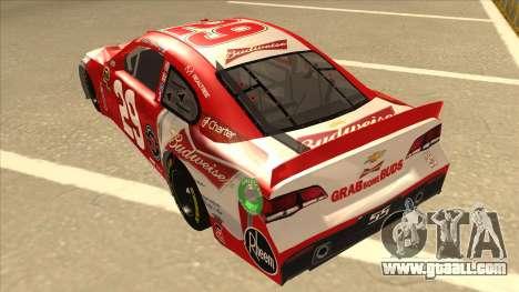 Chevrolet SS NASCAR No. 29 Budweiser for GTA San Andreas back view