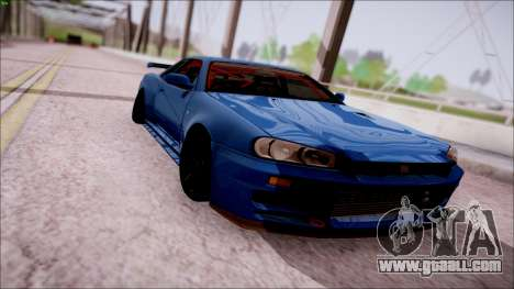 Nissan Skyline GT-R‎ R34 for GTA San Andreas back view
