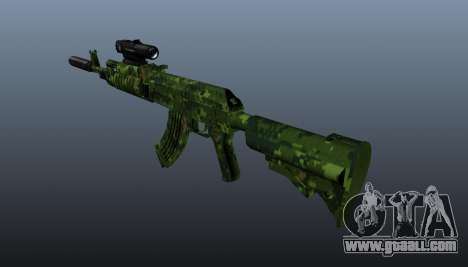 AK-74 in camouflage for GTA 4 second screenshot