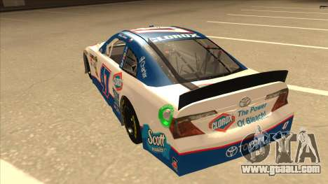 Toyota Camry NASCAR No. 47 Clorox for GTA San Andreas back view