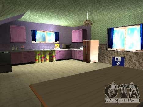 New interior 2-storeyed building CJ for GTA San Andreas eighth screenshot