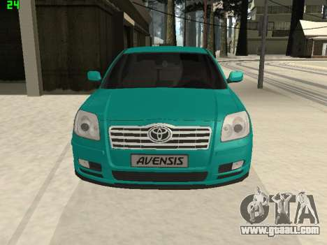 Toyota Avensis 2.0 16v VVT-i D4 Executive for GTA San Andreas right view