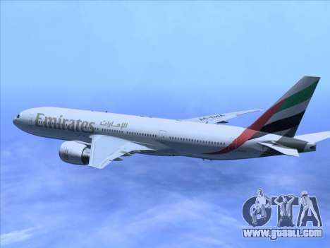 Boeing 777-21HLR Emirates for GTA San Andreas side view
