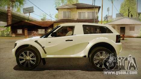 Bowler EXR S 2012 HQLM for GTA San Andreas left view