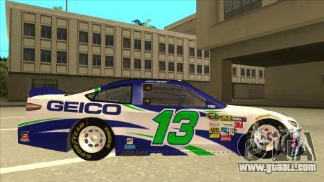 Ford Fusion NASCAR No. 13 GEICO for GTA San Andreas back left view