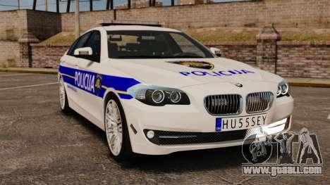 BMW M5 Croatian Police [ELS] for GTA 4