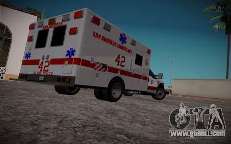Ford F350 Super Duty San Andreas Emerency Medica for GTA San Andreas back left view