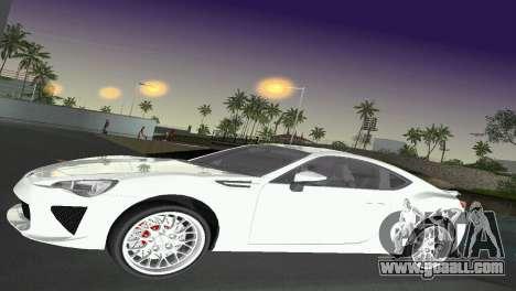 Subaru BRZ Type 2 for GTA Vice City side view
