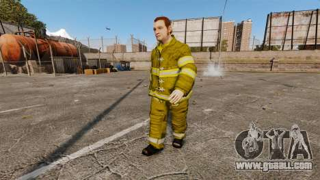 Yellow uniforms for fire fighters for GTA 4