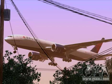 Boeing 777-200ER Delta Air Lines for GTA San Andreas bottom view