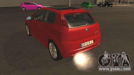Fiat Grande Punto for GTA San Andreas upper view