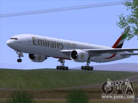 Boeing 777-21HLR Emirates for GTA San Andreas right view