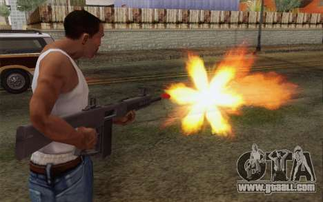 The AA-12 shotgun for GTA San Andreas third screenshot