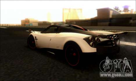Pagani Huayra Cinque for GTA San Andreas back left view