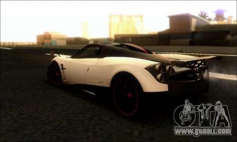 Pagani Huayra Cinque for GTA San Andreas back left view