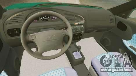 Daewoo Lanos 1997 Cabriolet Concept v2 for GTA 4 inner view
