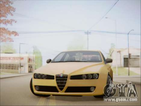 Alfa Romeo 159 Sedan for GTA San Andreas back left view