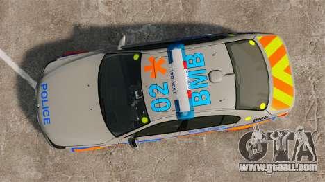BMW M5 E60 Metropolitan Police 2006 ARV [ELS] for GTA 4 right view