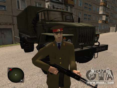 Major General Of The Russian Army for GTA San Andreas